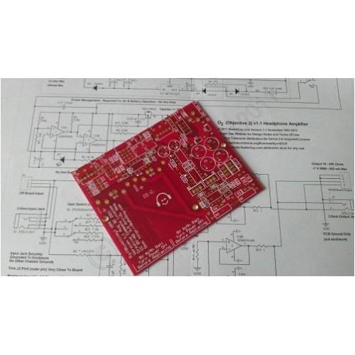 Objective2 Headphone Amplifier PCB on